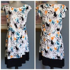 Robert Rodriguez Print Dress Absolutely beautiful print dress from Robert Rodriguez !  Features a scoop neck , pretty abstract floral print , lining , elastic waist .  Nice amount of stretch .  Made of 100% polyester .  Machine wash/dry . Robert Rodriguez Dresses