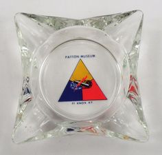 Army US Soldier Hero Glass Square Ashtray