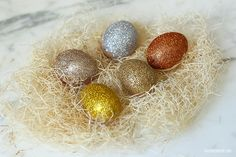 DIY Ombre Glitter Easter Eggs.