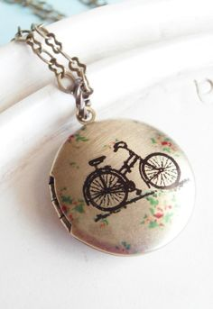 Bicycle Locket Necklace