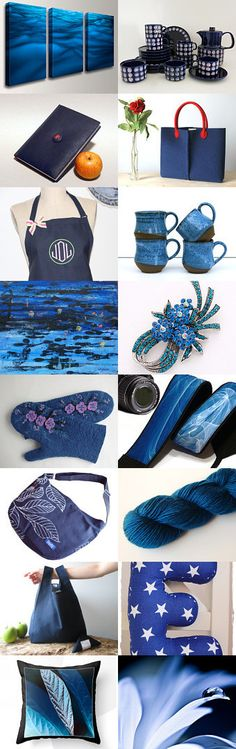 Deep Blues by The Classy Jewelry Box on Etsy--Pinned with TreasuryPin.com