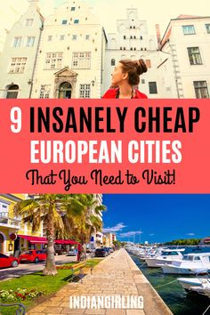 Thinking of traveling to Europe but want to travel on a budget? Whether you are a solo female traveler, a couple or on a Travel Goals, Travel Advice, Travel Guides, Travel Blog, Travel Europe Cheap, Traveling Europe, Budget Travel, Traveling Tips, Cheap European Cities