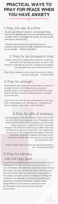 Ways to Pray for Peace When You Have Anxiety What are the ways to treat anxiety without prescription drugs? Are there natural treatments for anxiety that actually work? Leah Grey gives practical advice on how to handle anxiety as a Christian The Words, Christian Life, Christian Quotes, Christian Women, Being A Christian, How To Pray Christian, Christian Prayers, Christian Living, Affirmations