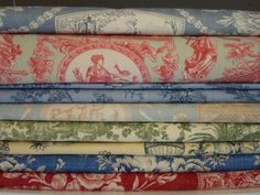 French Toile Fabric   Love toile, kind of get tired of it, but then I always am drawn back.