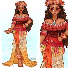 Moana 🌊 feel free to cosplay. See more designs on my Patreon 💖 Disney Artwork, Disney Fan Art, Disney Drawings, Disney Love, Disney Magic, Disney Sketches, Disney Princess Fashion, Disney Princess Art, Disney Style