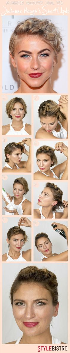 How to Create Julianne Hough's Short Hair Updo