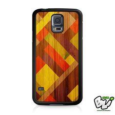 Mondrian Fullcolour Wood Samsung Galaxy S5 Case