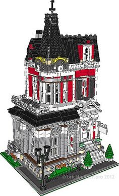 Queen Anne Victorian PDF Instructions - Brickbuilderspro Store
