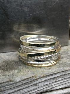 Wikkelring zilver met goud