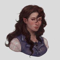 Character Portraits, Character Art, Character Design, Character Ideas, Girl Inspiration, Fantasy Inspiration, Drawing Stars, Elf Art, Female Elf