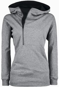 Comfy Grey Side Zip Hoodie
