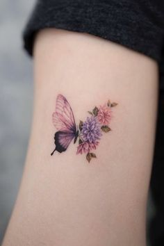 Butterfly Tattoos For Women, Small Butterfly Tattoo, Butterfly Tattoo Designs, Tattoos For Women Small, Back Of Neck Tattoos For Women, Tattoo Ideas Flower, Butterfly Tattoo Meaning, Meaningful Tattoos For Women, Butterfly Dragon