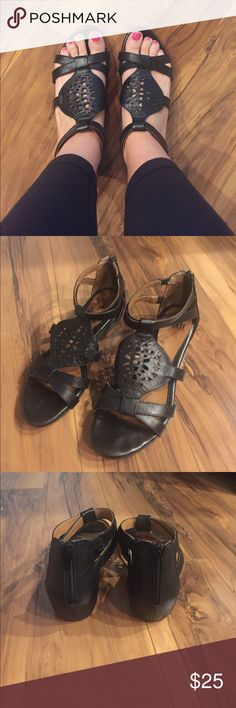 Sofft leather sandals Small wedge. Very good condition. Worn less than 10 times. Sofft Shoes Sandals