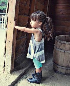 Cowboyboots | singlet dress  Kidsfashion | streetstyle | kindermode |