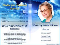 65 best memorial legacy program templates images on pinterest