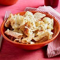Brown Macaroni with Four Cheeses & Cauliflower