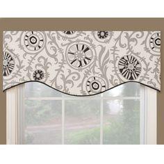 Soho Black Modern Window Valance