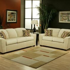 Willow Micro-Velvet Sofa and Loveseat Set by Hokku Designs. $1541.38. EL-DALLAS-S / EL-DALLAS-CH Features: -Upholstered in wheat micro-velvet.-Tight plush back cushions.-Seat cushioning is filled with soy-based polyfoam with fiber-down blend.-Double-doweled and corner-blocked for exceptional strength and stability.-Eco-friendly.-Made in USA. Includes: -Set includes sofa and loveseat.-Includes small accent pillows. Construction: -Hardwood frame construction. Assembly Instructio...