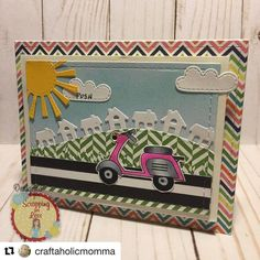 Design team member Stacy's super cute card using both Pink and Main stamps and Chibitronics. #Repost @craftaholicmomma with @repostapp  #craftaholicmomma #scrappingforless #cardmaking #pinkandmainstamps #chibitronics #chibitronicscard #clearstamps