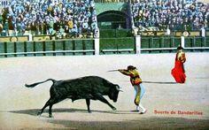 rodolfo gaona torero | Postales antiguas de Toros, Toreros y Plazas: Suerte de banderillas