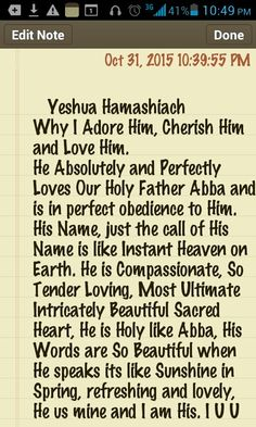 How Can Anyone Deny Him? I dont even want to know. My HEART belongs to Him, I absolutely ADORE Him, Cherish Him Most Ultimate High and Love Him beyond my Own comprehension. I Surely do Love Him, Yeshua Hamashiach, Christ Jesus.