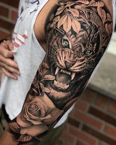 tattoos back of leg \ tattoos back . tattoos back of arm . tattoos back of neck . tattoos back women . tattoos back spine . tattoos back shoulder . tattoos back of arm above elbow . tattoos back of leg Tiger Tattoo Sleeve, Tattoos For Women Half Sleeve, Arm Sleeve Tattoos, Tattoo Sleeve Designs, Tattoo Designs Men, Wolf Tattoos, Leg Tattoos, Body Art Tattoos, Arm Tattoos Girls
