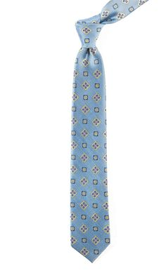 EXCALIBUR MEDALLION - SLATE BLUE | Ties, Bow Ties, and Pocket Squares | The Tie Bar