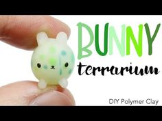 Kawaii Bunny Terrarium polymer clay tutorial