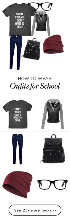 """""""School started..."""" by iheartpandas2 on Polyvore featuring Doublju"""