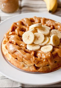 Peanut Butter and Banana Waffles by Smells Like Home, via Flickr