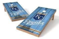 Kansas City Royals Single Cornhole Board - Vintage