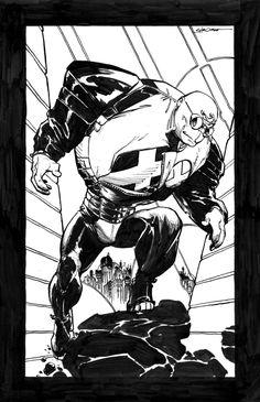 Strong Guy, in Brian Wisniewski's Larry Stroman Comic Art Gallery Room Book Cover Art, Comic Book Covers, Comic Kunst, Comic Art, Gi Joe, Marvel Universe, Strong Guy, Classic Comics, Marvel X