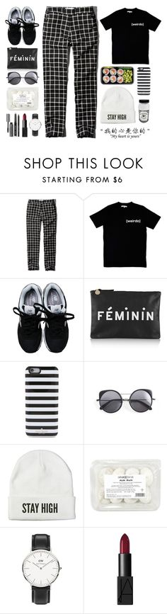 """Untitled #1000"" by winnnna ❤ liked on Polyvore featuring mode, Abercrombie & Fitch, Illustrated People, New Balance, Clare V., Kate Spade, Wood Wood, Venom, Daniel Wellington en NARS Cosmetics"