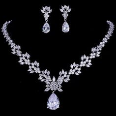 992e3769cb368 Belle Bridal l stunning crystals wedding jewelry set | Belle Bridal  Jewellery l headpieces, jewelry