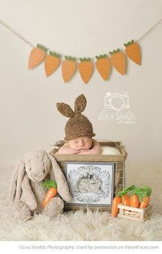Easter Photo Session Ideas - Newborn Portrait Session by Lisa Shields Photography - Featured on iHeartFaces.com #photographyideas