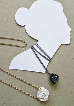 FimoClay Roses Necklace (Secret Garden) Washer Necklace, Pendant Necklace, Arrow Necklace, Chain, Beads, Garden, Handmade, Accessories, Jewelry