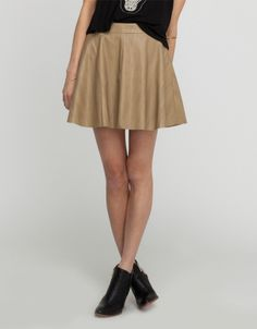 Petra Faux Leather Skirt
