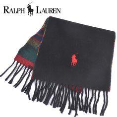 050ba55fc78f Polo Ralph Lauren(ポロラルフローレン) マフラー ブラック×マルチカラー ウール【送料無料】 ssm-rl-010