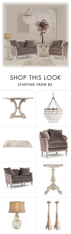 """""""Emeline & Catherine"""" by youaresofashion ❤ liked on Polyvore featuring interior, interiors, interior design, home, home decor, interior decorating, WALL, Stanley Furniture and Aidan Gray"""