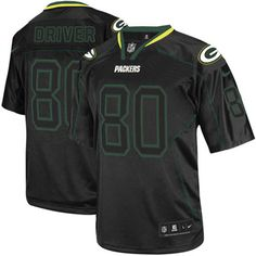 Mens Black Nike Game Green Bay Packers  80 Donald Driver Lights Out NFL  Jersey 79.99 ad2eedf28