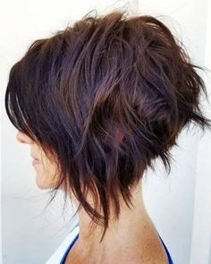 10 trendy messy bob hairstyles, female hairstyle for short hair . 10 trendy messy bob hairstyles, female hairstyle for short hair . Short Hairstyles That& Make You Loo. Choppy Bob Hairstyles, Short Hairstyles For Women, Hairstyle Short, Short Undercut, Hairstyle Ideas, Inverted Bob Haircuts, Nice Hairstyles, Bridal Hairstyle, Layered Haircuts