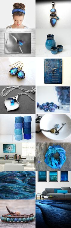 Blueberries by Marukasa on Etsy--Pinned with TreasuryPin.com