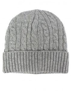 Dahlia Men's Cable Knit Wool Blend Winter Beanie Hat - Fleece Lined