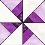 pinwheel pattern quilt | ... Susan B. Anthony Feathered Star quilt block, free quilt block patterns