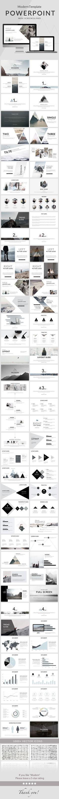 Modern - Powerpoint #Template - #Creative PowerPoint Templates