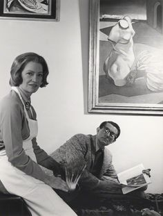 Lee Miller; Roland Penrose, by Cecil Beaton, mid 1960s