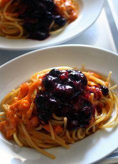 Tomato & Blueberry Pasta