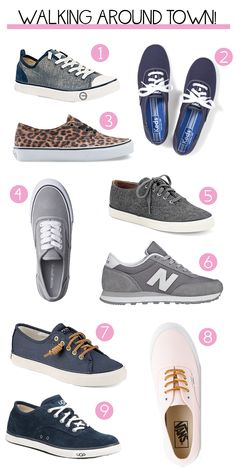 The perfect sneakers for summer walking. Avoid looking like a tourist in these comfortable walking shoes.