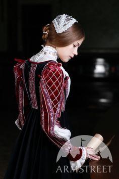 Robe de Renaissance du style florentin en velours naturel d'ArmStreet