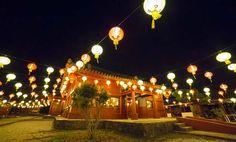 Chinese style lanterns will lit Yomitan Murasaki Mura through Feb. Places Around The World, Around The Worlds, Lantern Festival, Festival 2016, Okinawa Japan, Chinese Style, Places To See, Lanterns, Things To Do